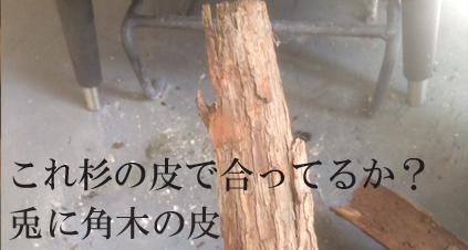 多分杉の皮