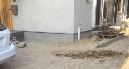 駐車場エリア掘削