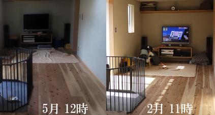 2月と5月の比較
