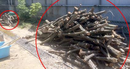 薪が溜まった