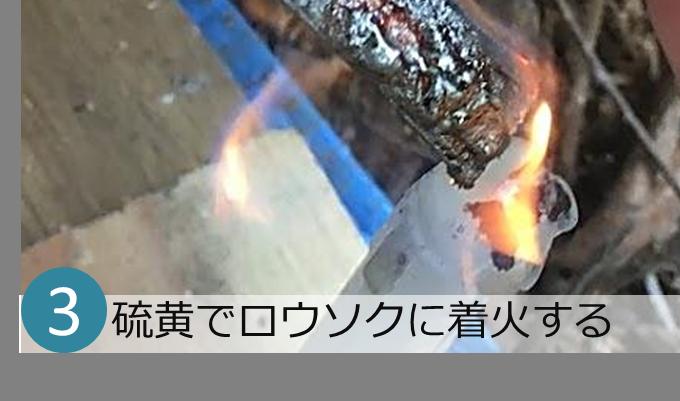 ロウソクに着火