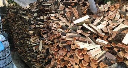 薪棚がオーバーフローした